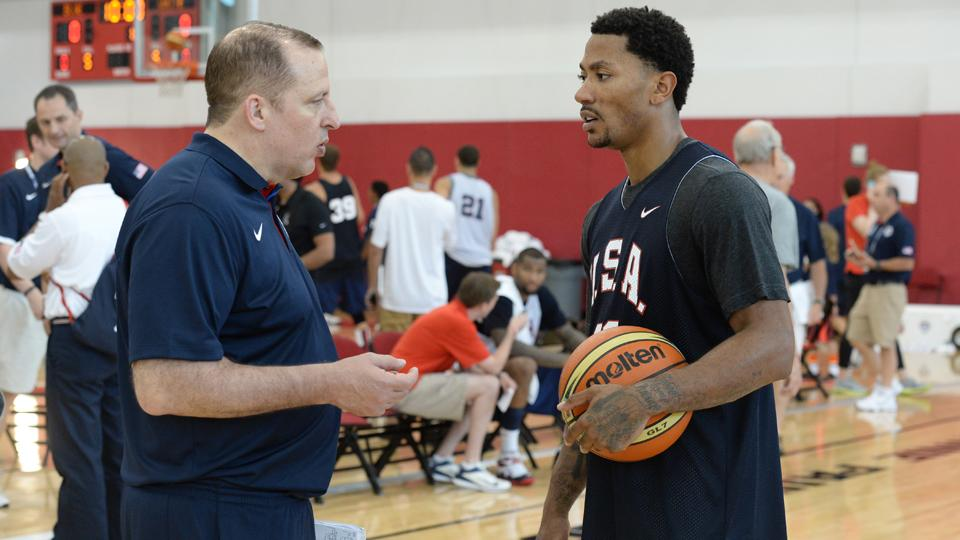 Team USA's Jim Boeheim on Derrick Rose: 'most impressive guy here'