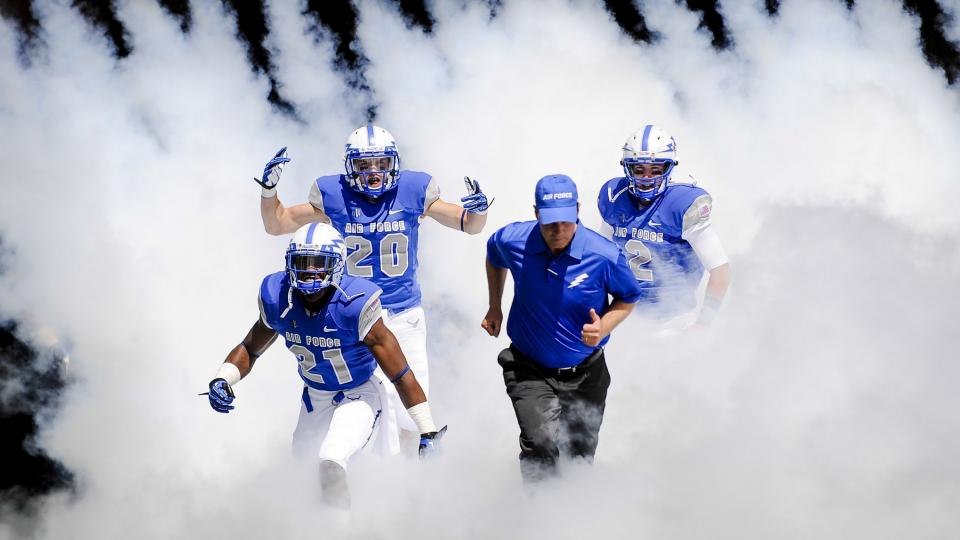 Air Force unveils new football uniforms
