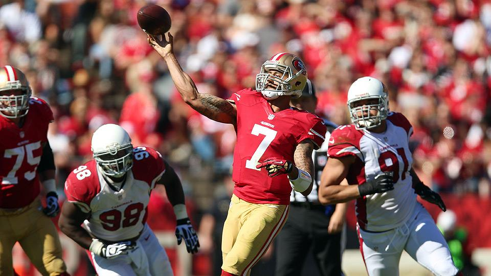 49ers quarterback Colin Kaepernick dealt with foot injury last year