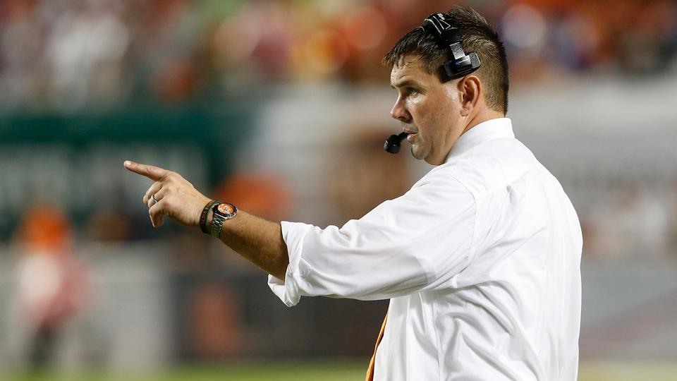 Miami's head coach Al Golden (pictured) will be without QB Kevin Olsen for at least one game