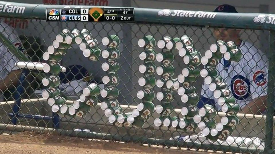 Cubs and Rockies have cup war to pass the time