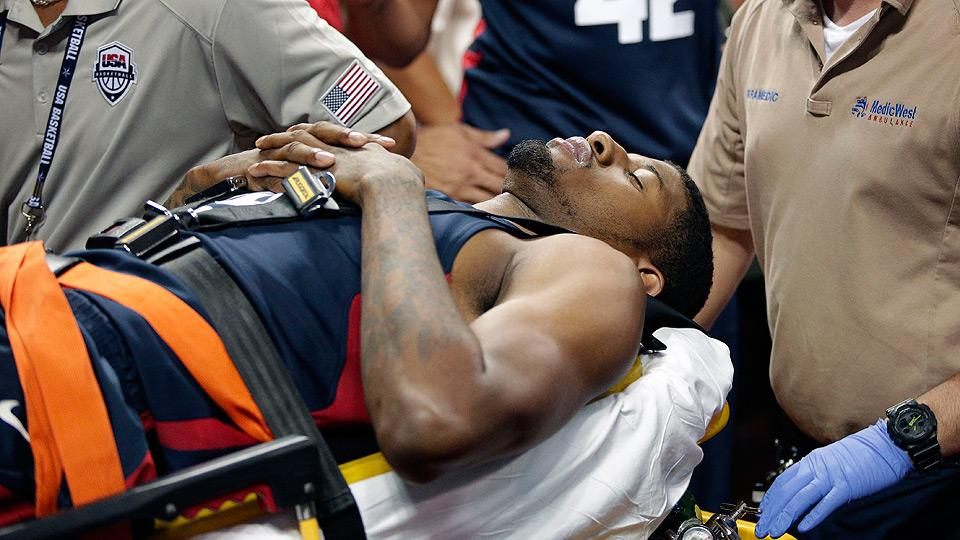 Pacers' Paul George suffers severe leg fracture at USA Basketball showcase