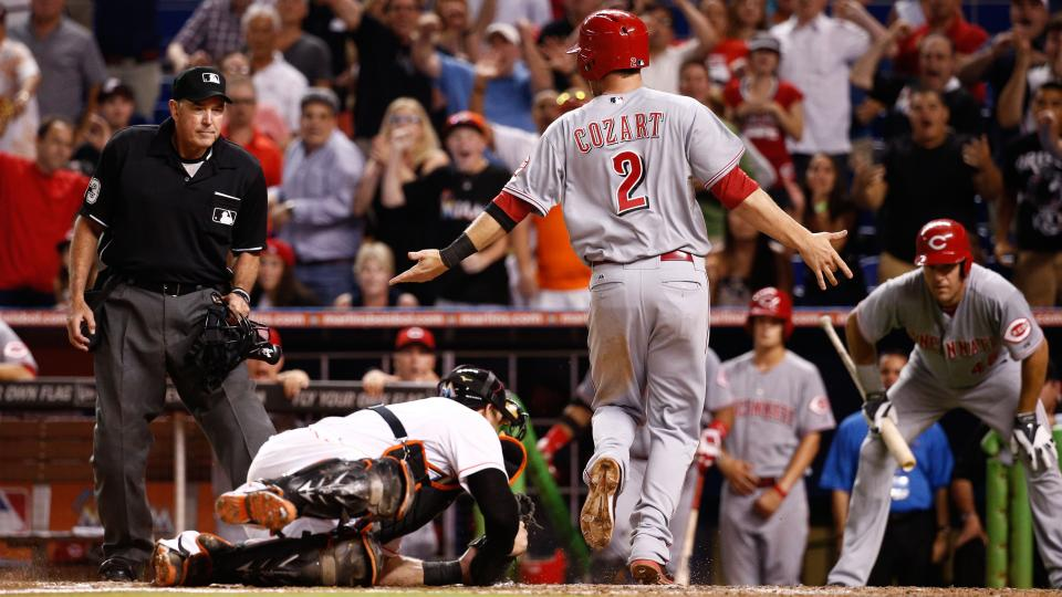 MLB issues statement on controversial Reds-Marlins replay