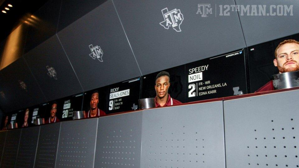 Texas A&M unveiled its renovated football locker rooms, and they are really nice
