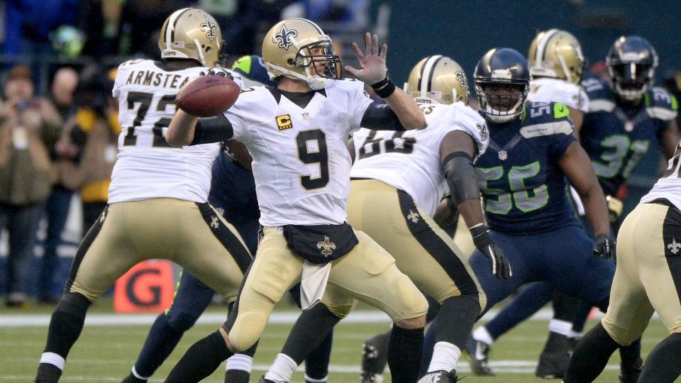 Drew Brees sits out Saints team scrimmage with strained oblique