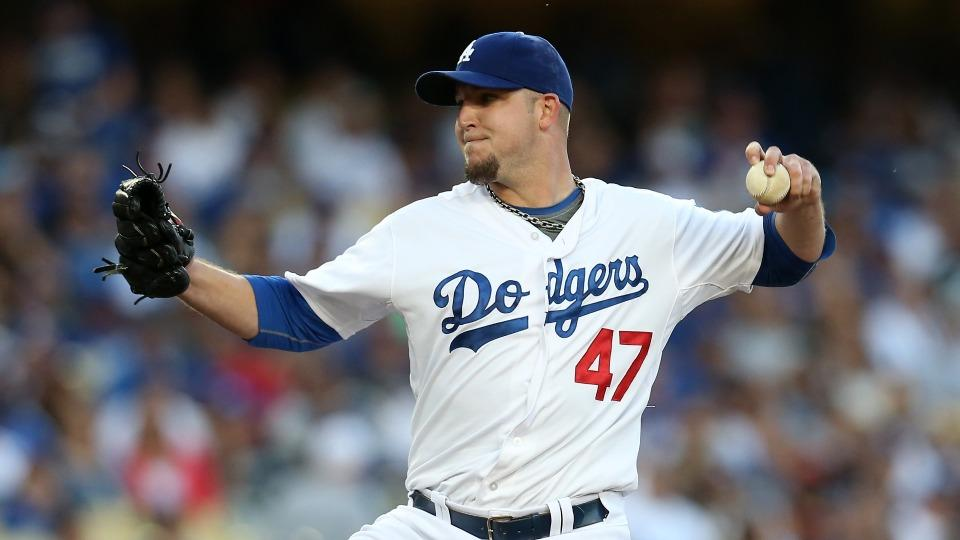 Dodgers' Paul Maholm has torn ACL, expected to miss rest of season