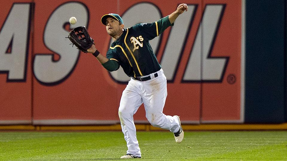 Watch: A's Sam Fuld saves a run with a terrific throw from center