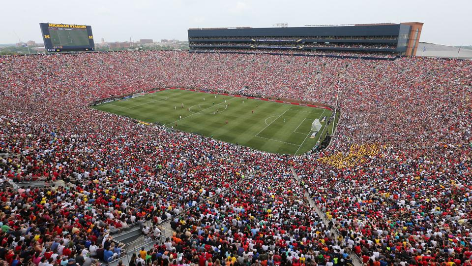 More than 109,000 turned out to watch Real Madrid play Manchester United at Michigan's Big House on Saturday.