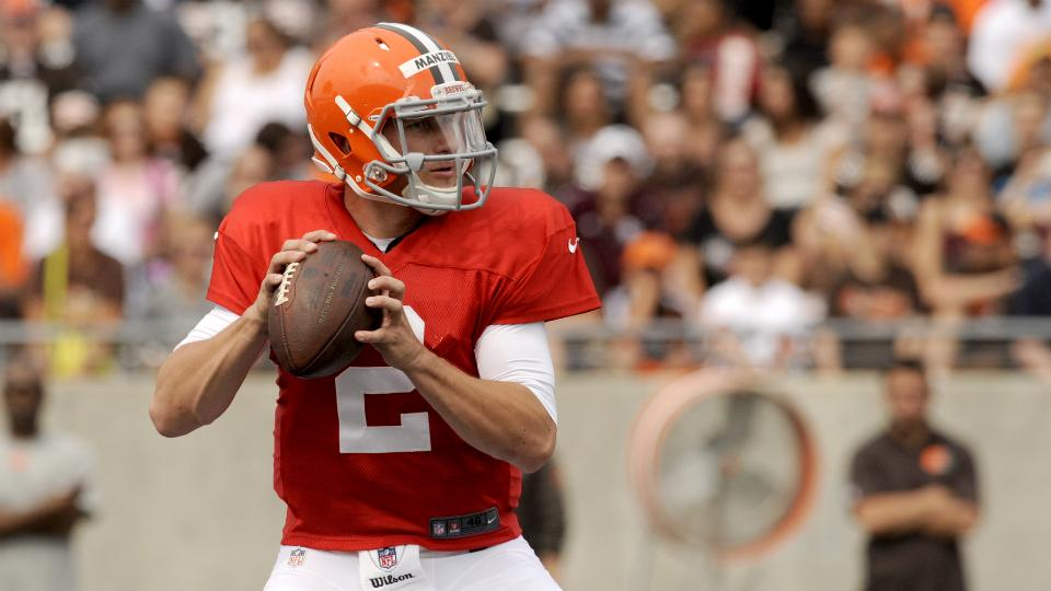 Johnny Manziel takes first training camp reps with Browns starters