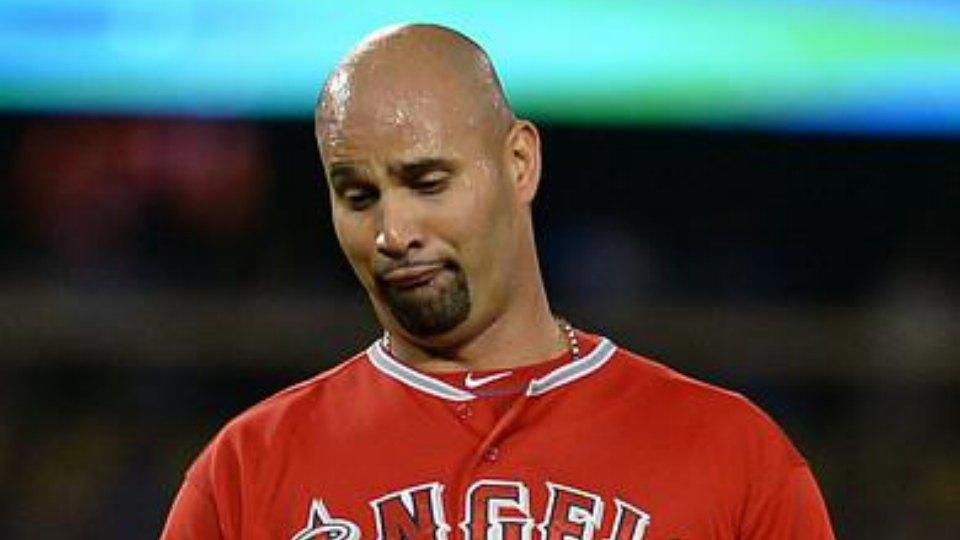 Try to figure out what Albert Pujols is doing in this GIF