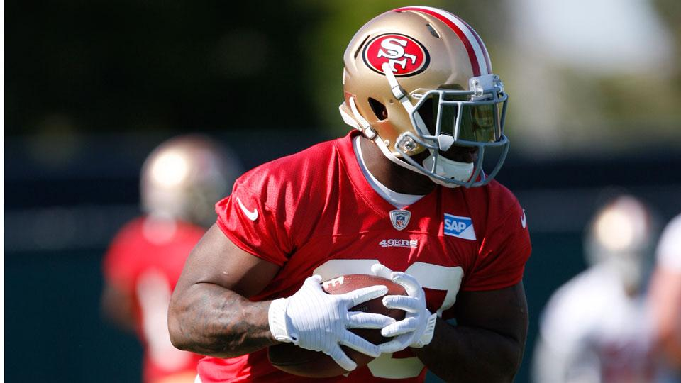 Carlos Hyde is listed as Frank Gore's backup at running back