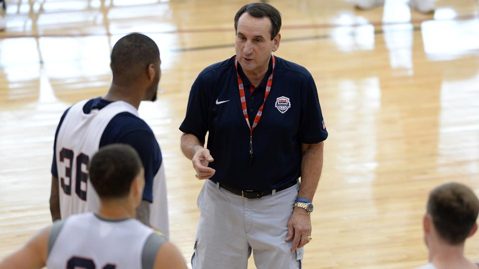Coach K on Team USA: Eight-man rotation for World Cup likely
