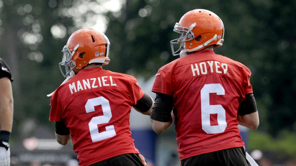 Brian Hoyer ahead of Johnny Manziel on Browns' first depth chart
