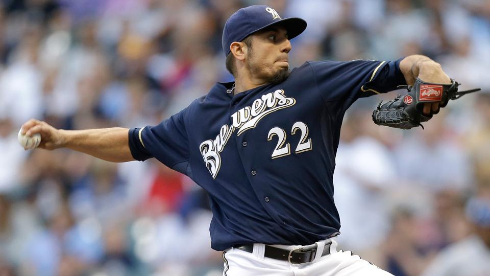 Brewers' Matt Garza placed on disabled list with oblique strain