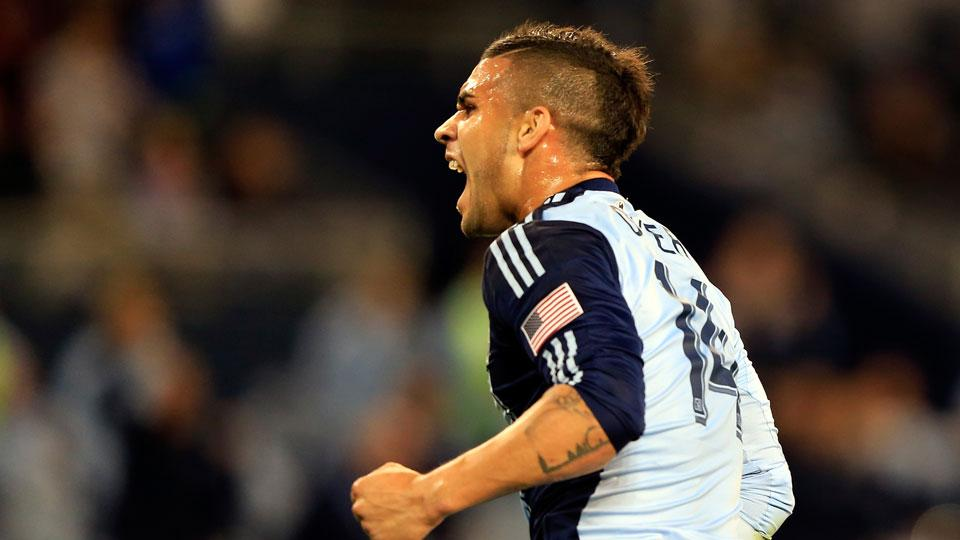 Dom Dwyer leads Kansas City with 14 goals at the midway point