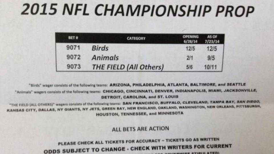 One oddsmaker is offering a very interesting Super Bowl futures bet