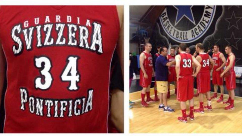 Notre Dame played basketball against the Swiss Guard in Vatican City