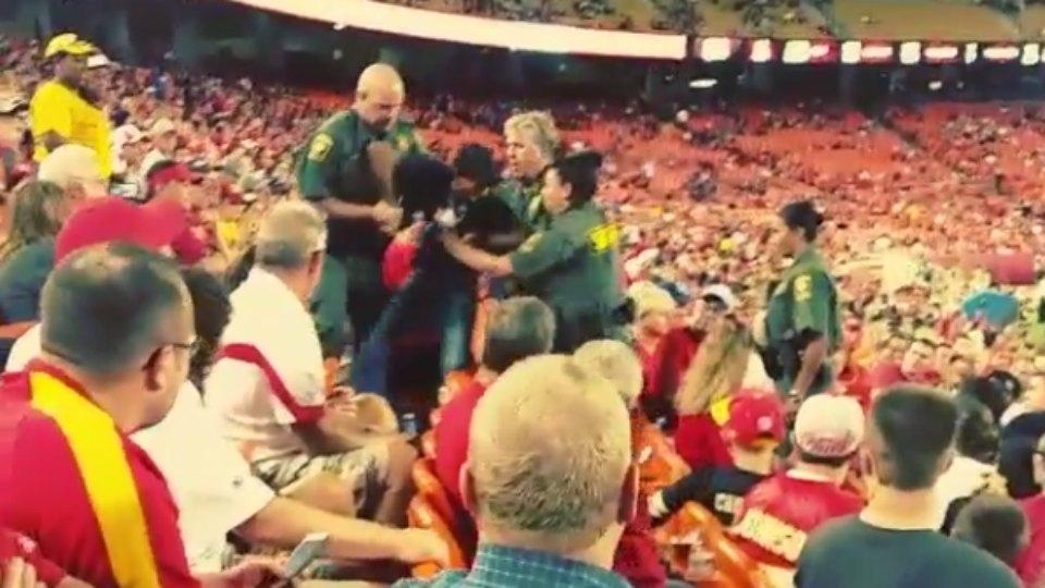A fan was tased at a preseason Chiefs game
