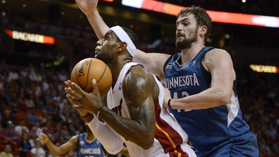 LeBron James would be 'very excited' to have Kevin Love in Cleveland