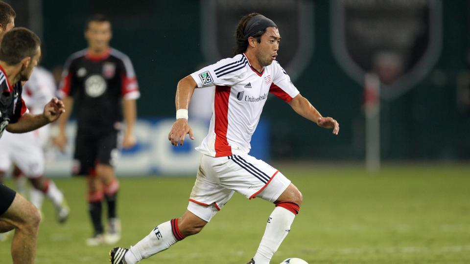 Lee Nguyen of the New England Revolution controls the ball against D.C. United at RFK Stadium on September 15, 2012 in Washington, DC.