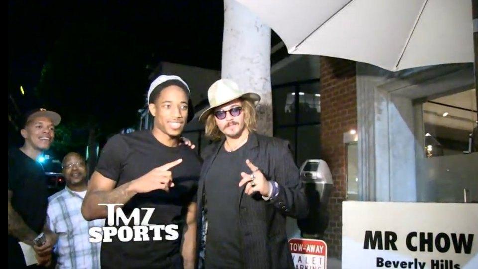 DeMar DeRozan gets fooled by Johnny Depp impersonator on his birthday