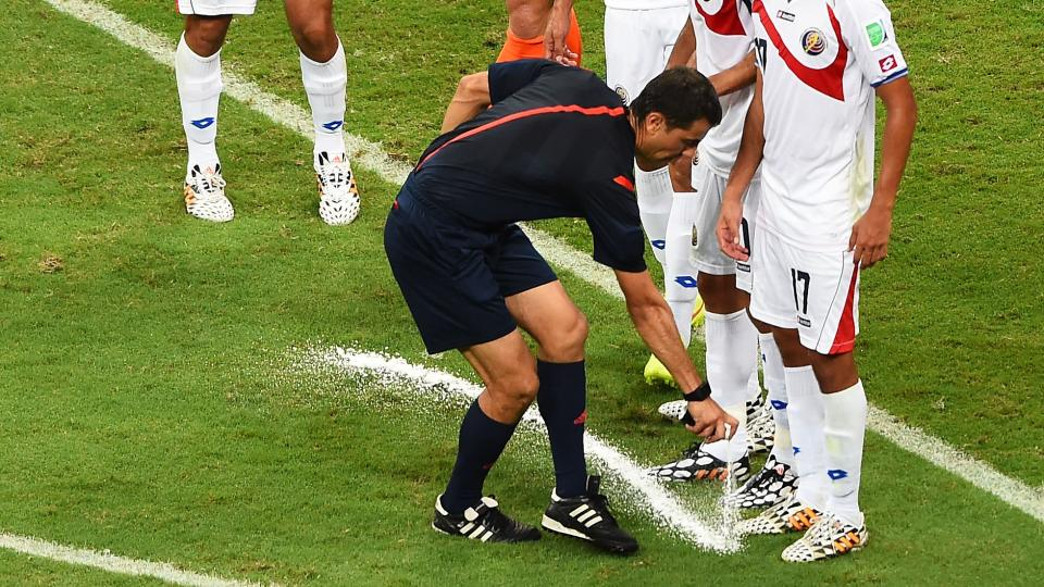 Vanishing spray paint used at World Cup to be used at all UEFA matches