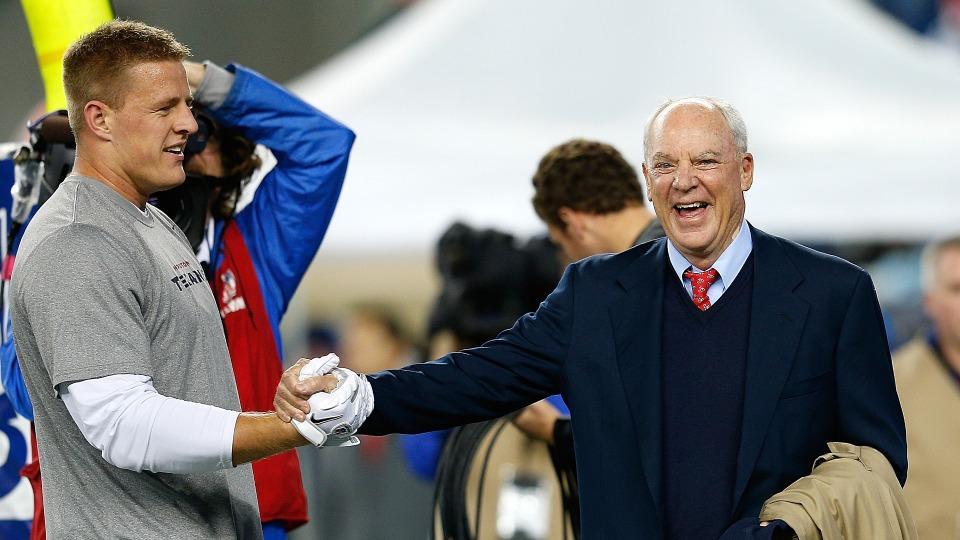 Texans owner Bob McNair open to putting franchise tag on J.J. Watt