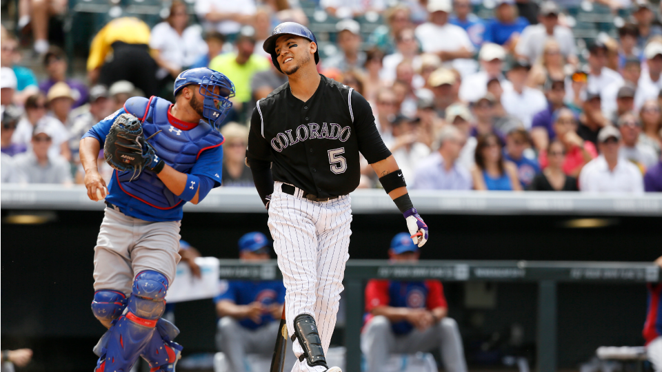 Rockies place OF Carlos Gonzalez on DL with knee injury
