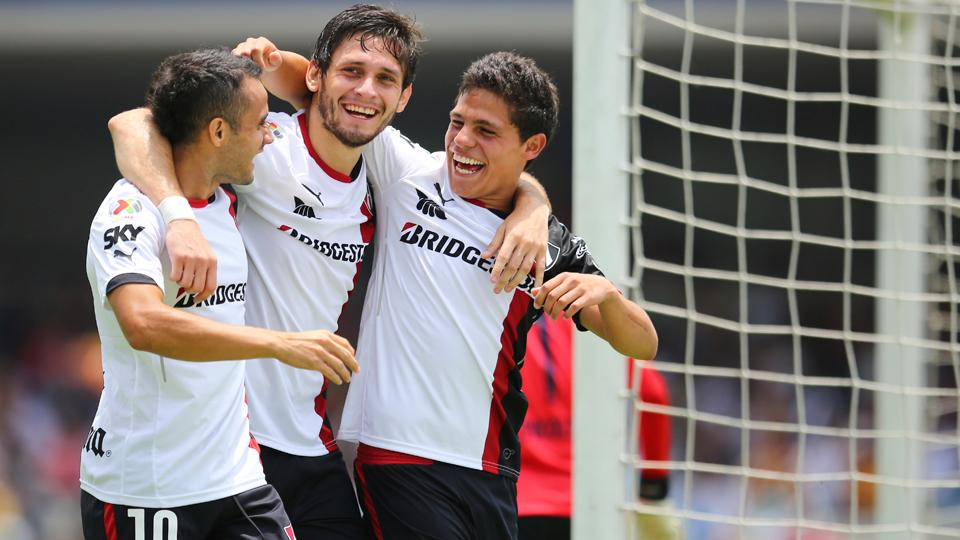 Atlas is unbeaten in four Liga MX matches, with Alfonso Gonzalez, right, scoring the game winner against Pumas UNAM.