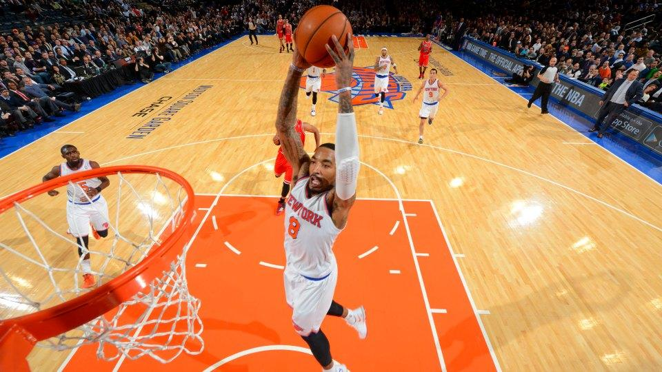 J.R. Smith crosses over camper before unleashing a vicious dunk