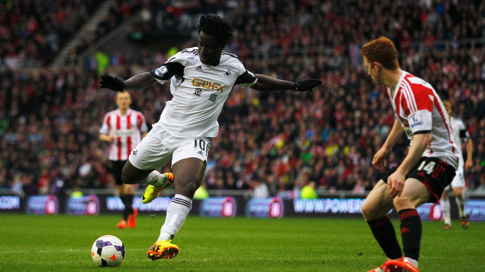 Swansea City striker Wilfried Bony
