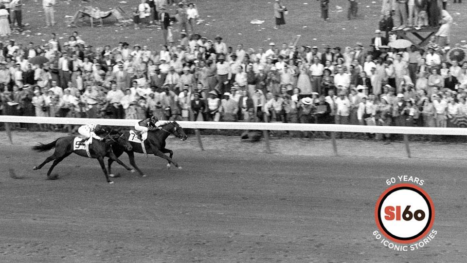 Swaps held on to beat Nashua in a thrilling 1955 Kentucky Derby.
