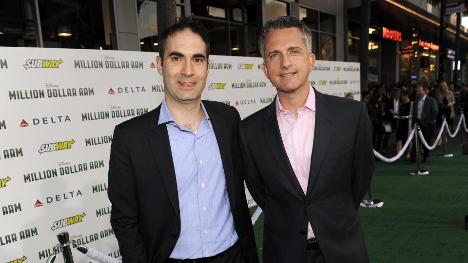 Bill Simmons (right) will be leaving NBA Countdown to debut a The Grantland Basketball Show, which will air on ESPN.