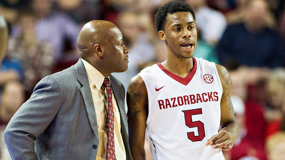 If he can get improved play out of reserve players like Anthlon Bell, Mike Anderson (L) could lead Arkansas to the NCAA tournament.