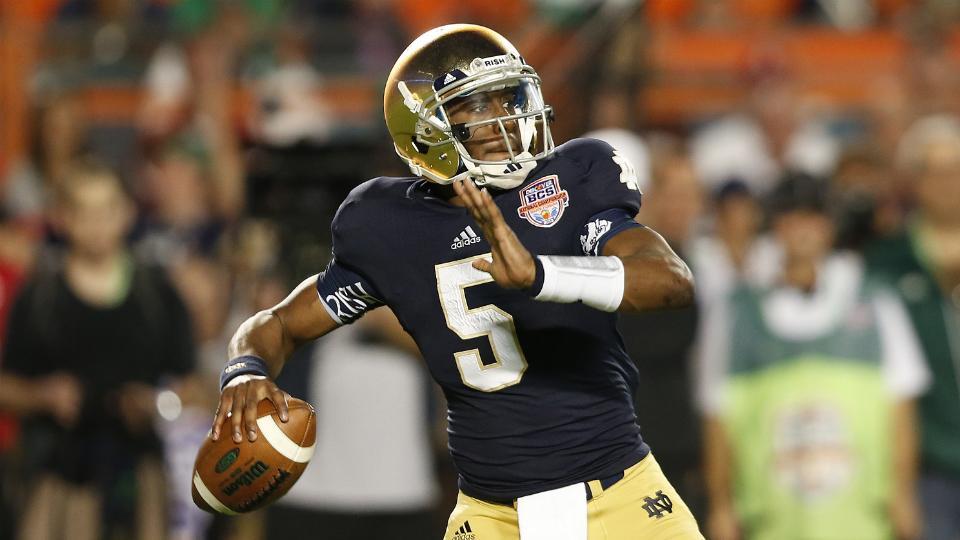 Quarterback Everett Golson will start Notre Dame's season opener