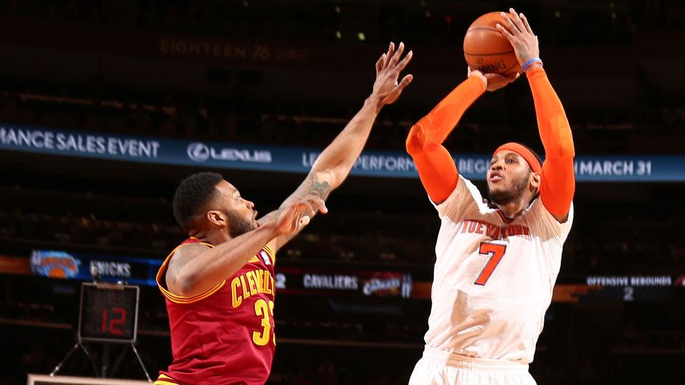 Carmelo Anthony and New York Knicks will travel to Cleveland on Oct. 30