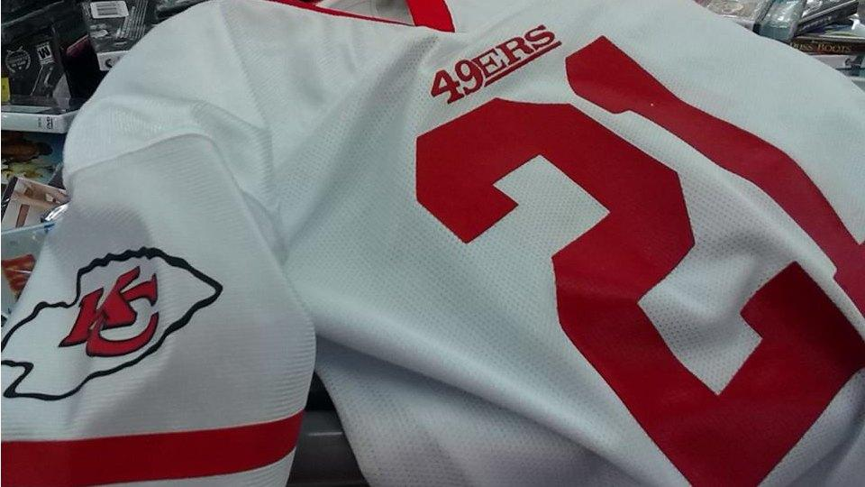 Printing mistake leads to Walmart selling Chiefs-49ers mashup jersey