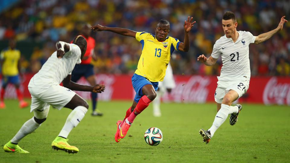 Ecuador World Cup star Enner Valencia, center, looks to take the next step in his career after joining West Ham.