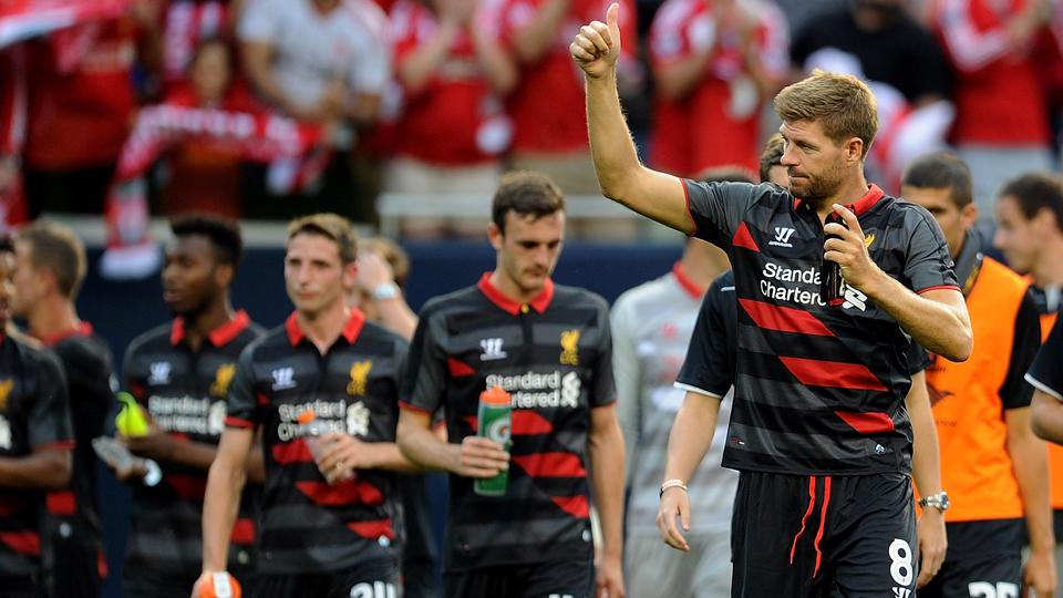 Liverpool captain Steven Gerrard returns to try and guide the Reds to the Premier League crown after a second-place finish in 2013-14.