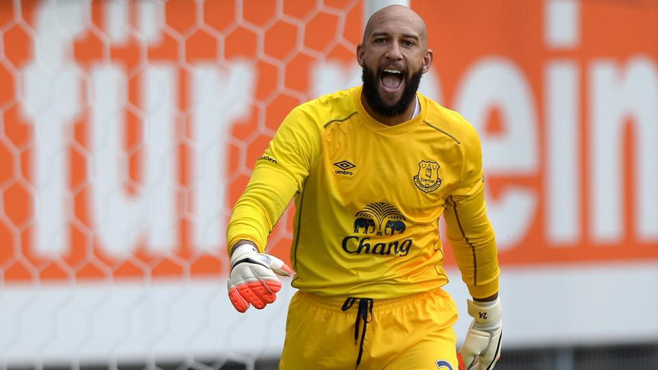 U.S. No. 1 goalkeeper Tim Howard hopes to lead the Toffees to a top-four berth after a fifth-place finish last season.
