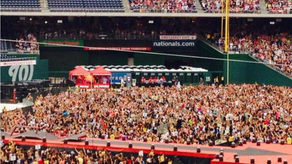 Nationals Park hosted a One Direction concert, and they filled the bullpen with porta-potties