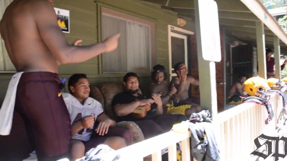 ASU football players join together for a ukelele cover of John Legend's