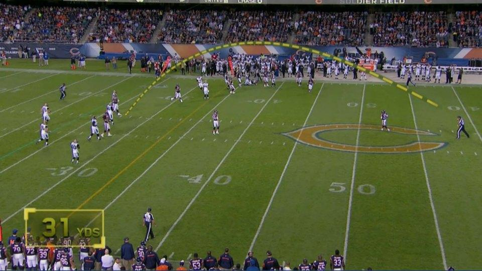 Referee dropped back and launched his flag 31 yards during last night's Jaguars-Bears game