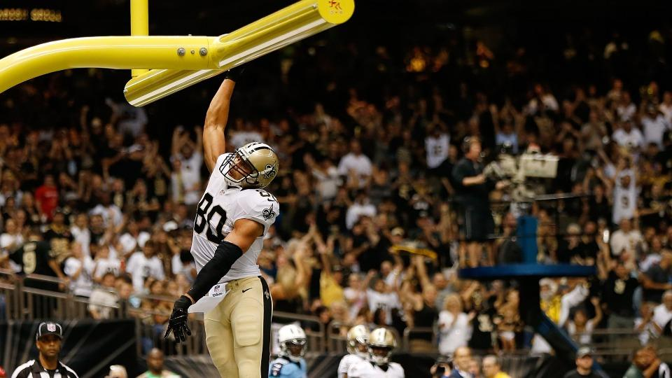 Saints' Jimmy Graham on dunk celebrations: 'Got to stop doing that'