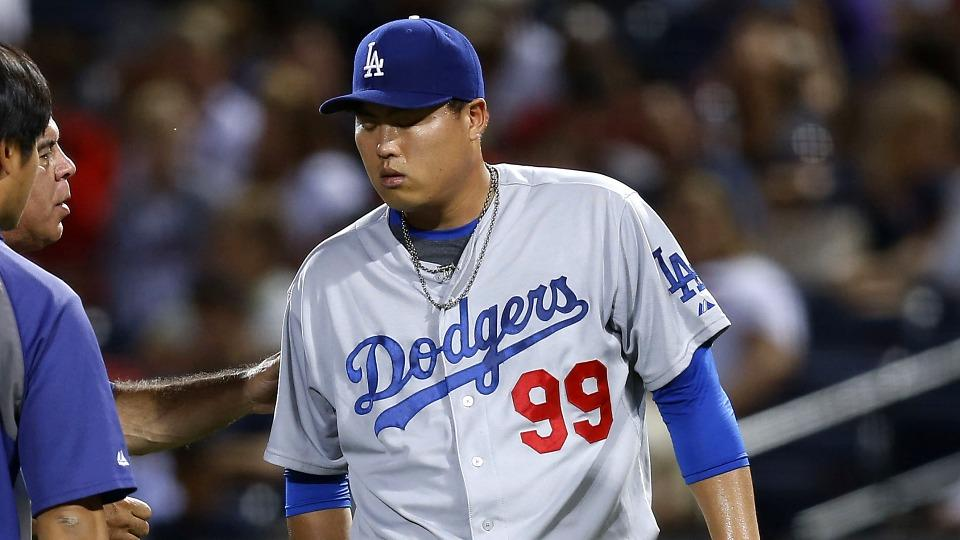 Dodgers starter Hyun-Jin Ryu put on DL with strained right glute