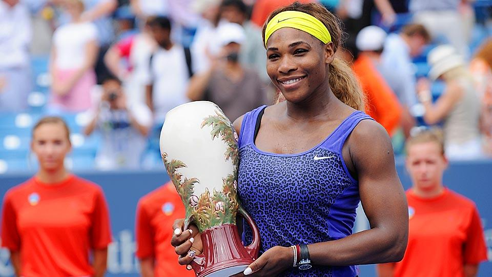 Serena Williams defeated Ana Ivanovic on Sunday to win the Western and Southern Open and her fifth title this season.