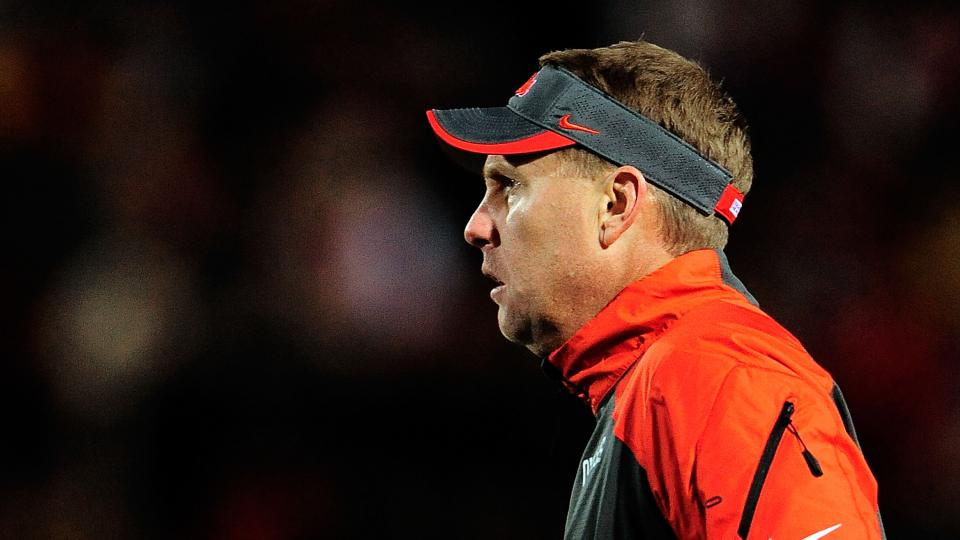 Hugh Freeze, head coach of the Ole Miss Rebels, watches action during a game against the Missouri Tigers at Vaught-Hemingway Stadium on November 23, 2013 in Oxford, Mississippi.