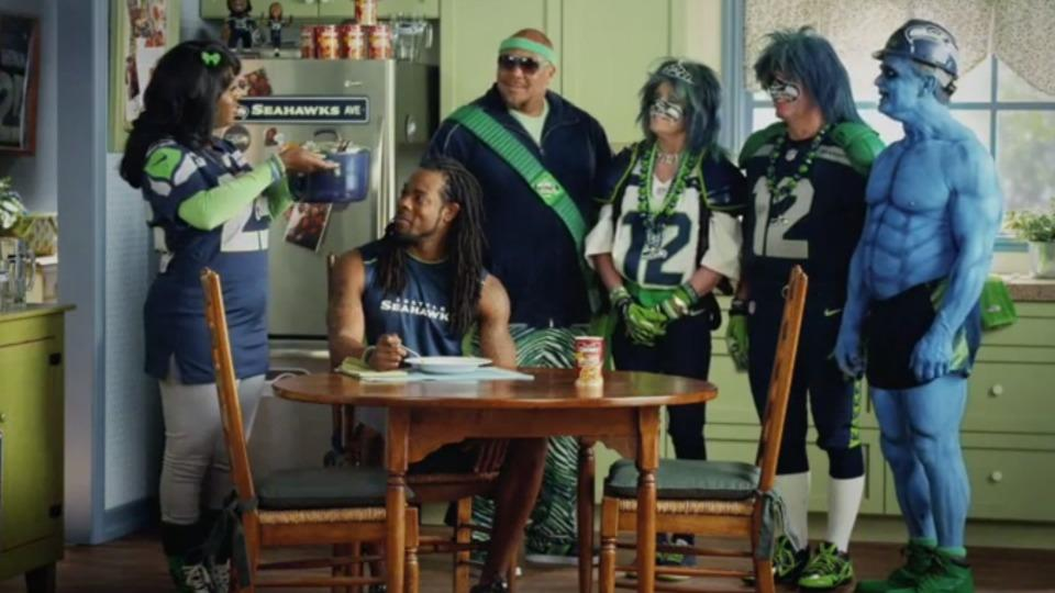 Seahawks' Richard Sherman and his mother star in new Campbell's Chunky soup commercial