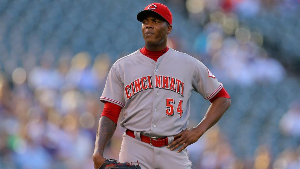 Reds closer Aroldis Chapman day-to-day with sore shoulder