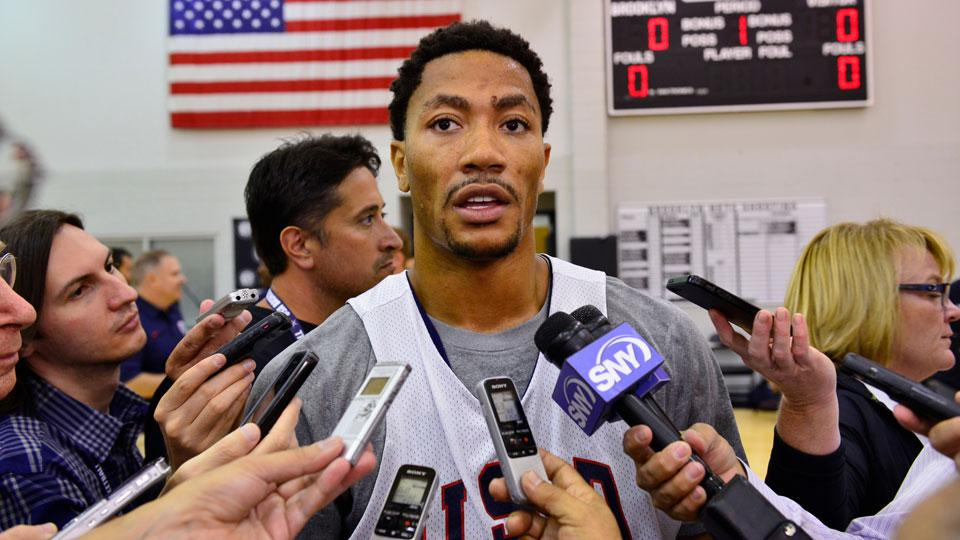 Derrick Rose sits out another USA practice, likely won't start Wednesday